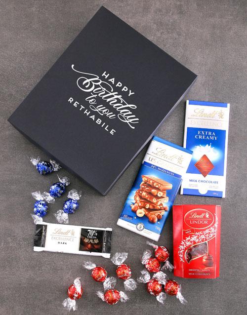 birthday: Personalised Birthday Box Of Lindt Chocs!