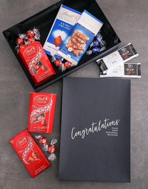 congratulations: Personalised Congrats Box Of Lindt Chocs!