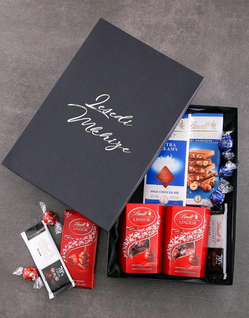 friendship: Personalised Black Lindt Box!