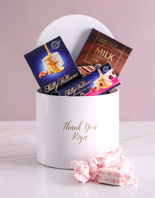 personalised: Personalised Thank You Nougat Box!