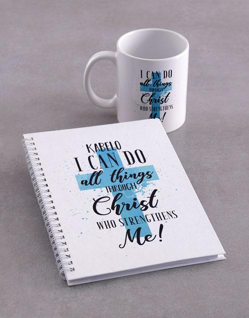 faith: Personalised All Things Mug Notebook!