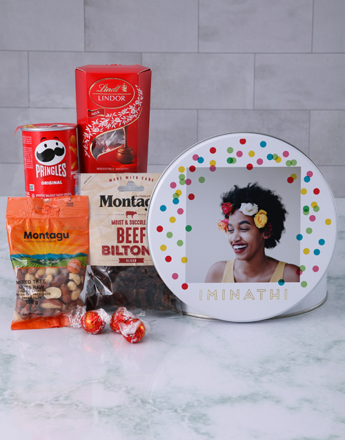 mothers-day: Personalised Photo Polka Dot Gourmet Tin!