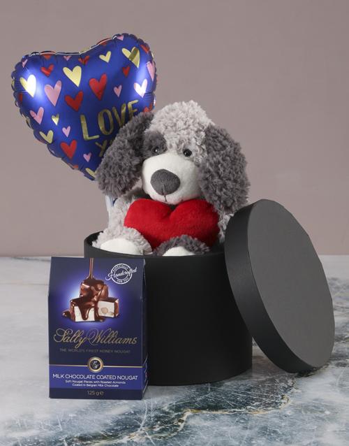teddy-bears: Puppy Love Chocolate Hatbox Hamper!