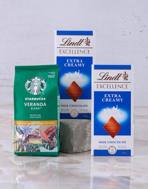 christmas: Starbucks and Lindt Slab Hamper!