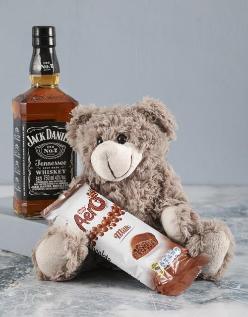 teddy-bears: Brown Teddy And Jack Daniels Surprise!