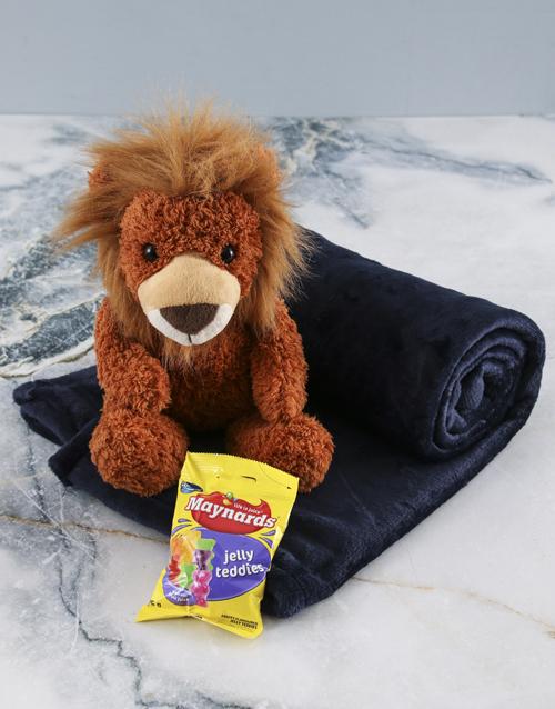 heritage-day: Denim Blue Blanket And Lion Hamper!