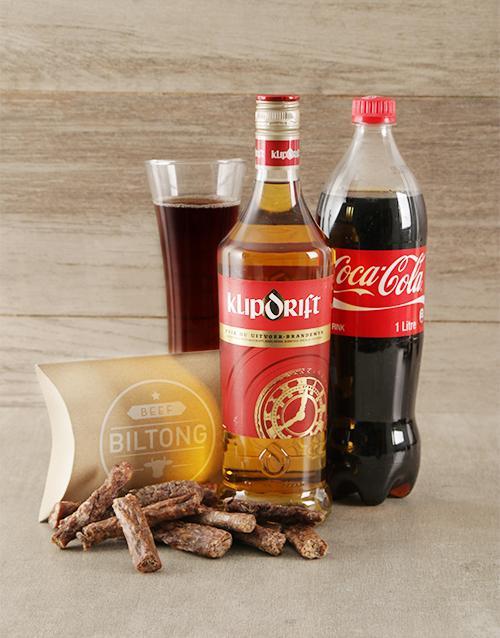 fine-alcohol: Klipdrift Coke and Biltong Hamper!