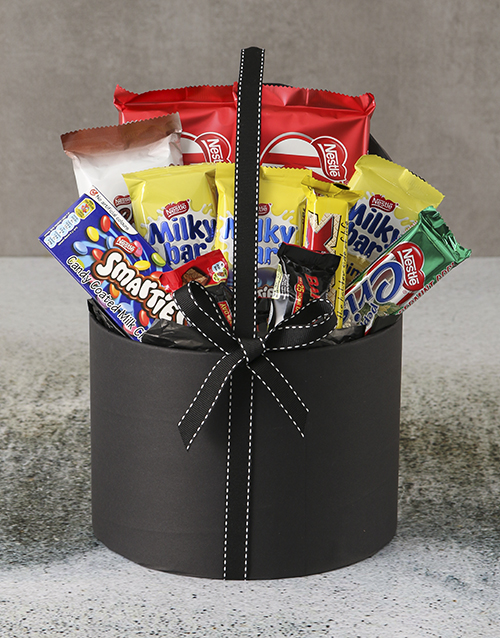 fathers-day: Large Chocolate Filled Hatbox!