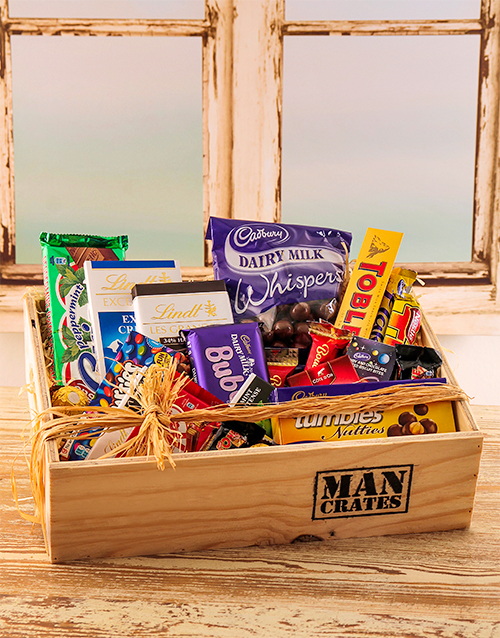 easter: Selection of Chocolates in a Crate!