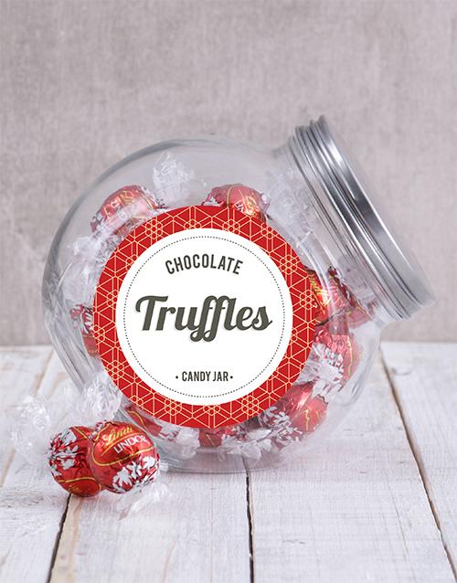 christmas: Lindt Chocolate Ball Candy Jar!