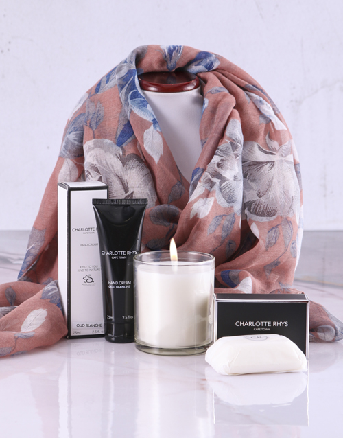 love-and-romance: Floral Scarf With Charlotte Rhys Hamper!
