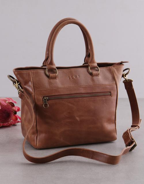 birthday: Zemp Paris Tan Leather Handbag!