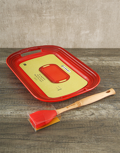 fathers-day: Le Creuset BBQ Platter & Basting Brush!