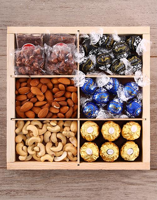 gourmet: Dark Chocolate Nut Tray!