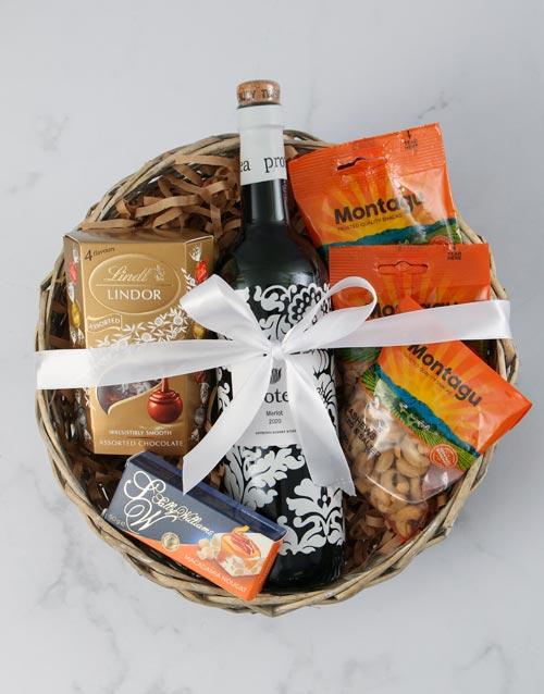 halloween: Protea Merlot &Snack Basket!