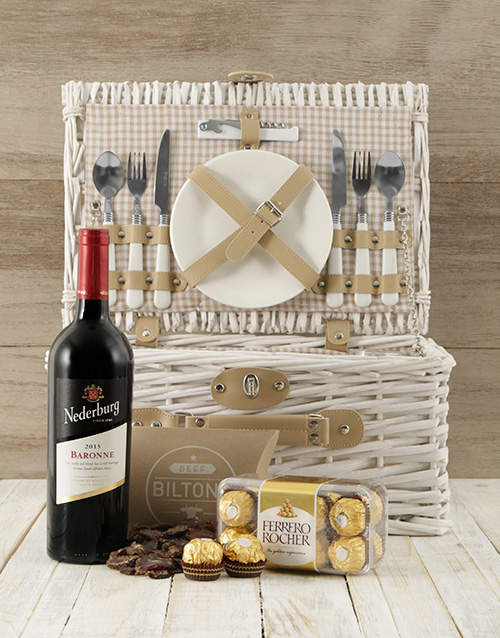 fathers-day: Time To Wine Down Picnic Basket!