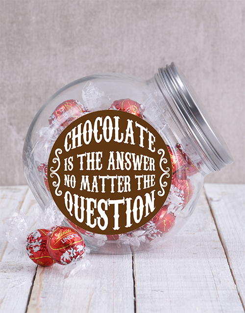 easter: Chocolate Is The Answer Candy Jar!