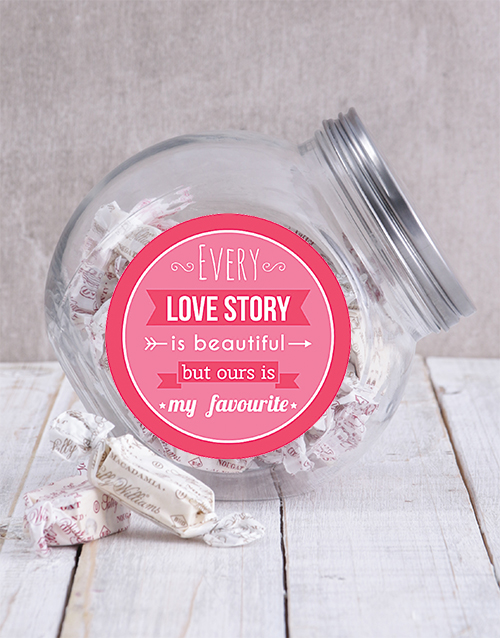 valentines-day: Our Love Story Candy Jar!