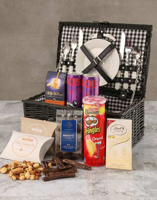 year-end: Two Person Black Willow Picnic Basket!