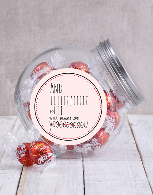 valentines-day: I Will Always Love You Candy Jar!