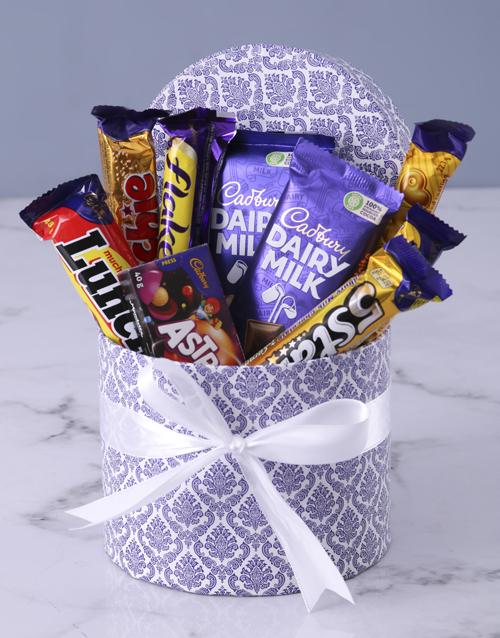 christmas: Blue Leaf Cadbury Hat Box!