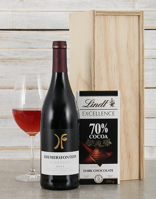 valentines-day: Diemersfontein Pinotage and Lindt Crate!