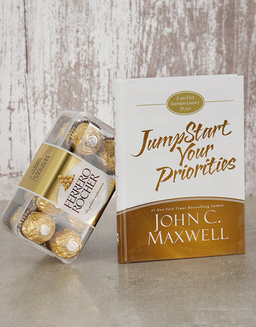 fathers-day: Jumpstart Your Priorities Book and Ferrero!
