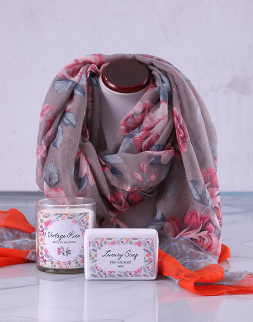 birthday: Pamper Box and Scarf Gift!