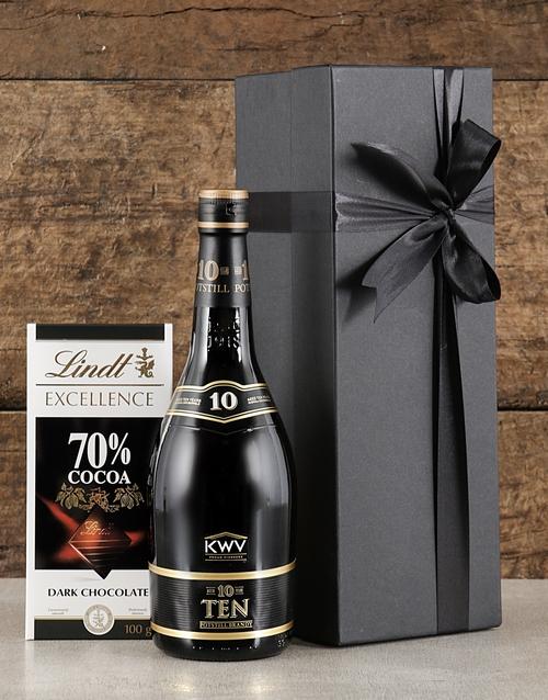 anniversary: Black Box of KWV Brandy!