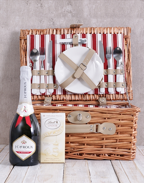 year-end: JC and White Lindt Picnic Basket!