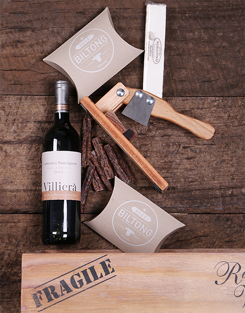 gourmet: Red Wine and Biltong Cutter Crate!