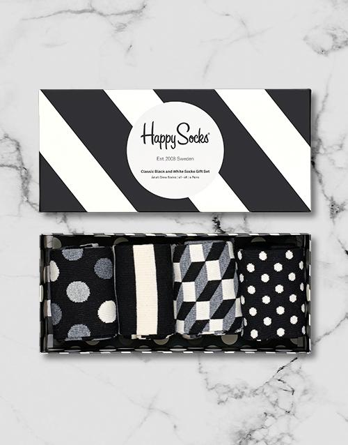 apparel: Black and White Happy Socks Giftbox!