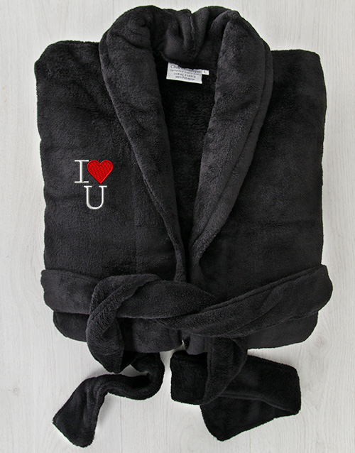 mothers-day: I Heart U Black Fleece Gown!