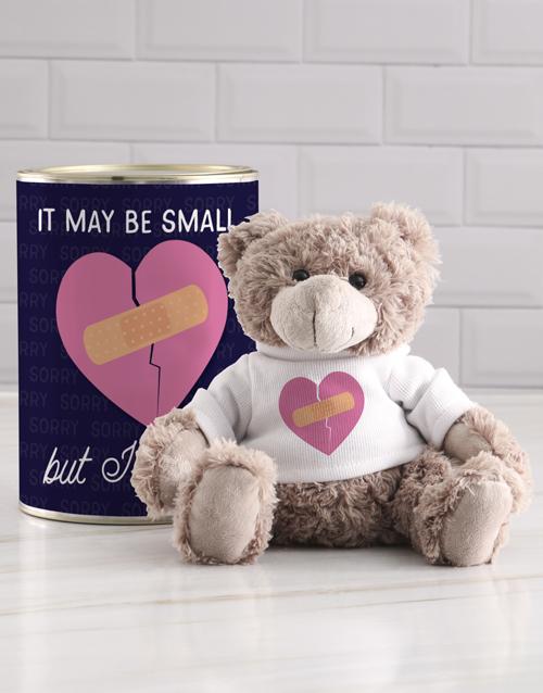teddy-bears: Sorry Heart Teddy in a Tin!