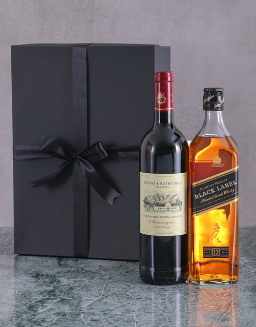 gifts: Wine and Whisky Duo Giftbox!