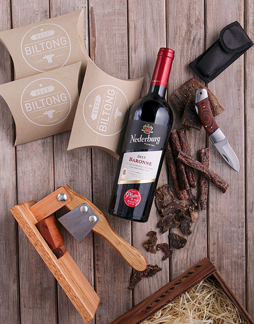 bosses-day: Red Wine & Biltong Essentials Crate!