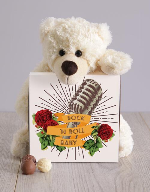 teddy-bears: Teddy and Rock n Roll Chocolate Box!