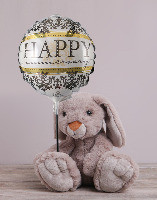 teddy-bears: Anniversary Bunny and Balloon Hamper!