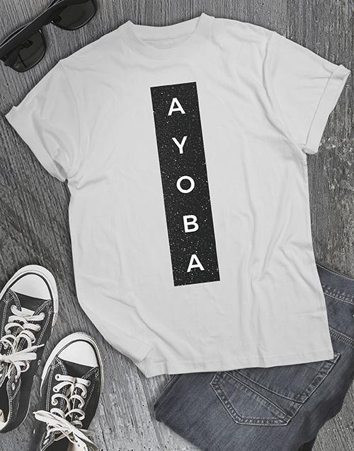 clothing: Ayoba Glitter T Shirt !