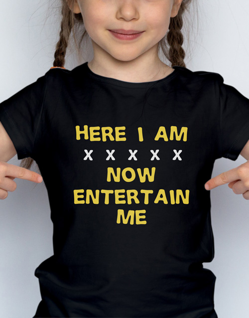 clothing: Entertain Me Kids T Shirt!