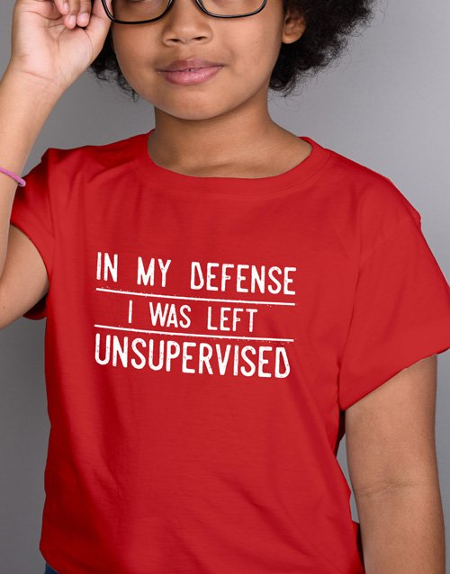 clothing: Supervision Kids T Shirt!