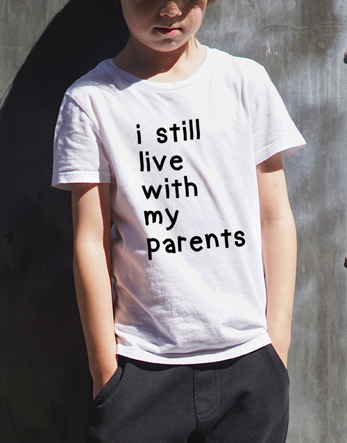clothing: With My Parents Kids T Shirt!