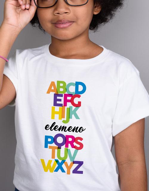clothing: Alphabet Kids T Shirt!