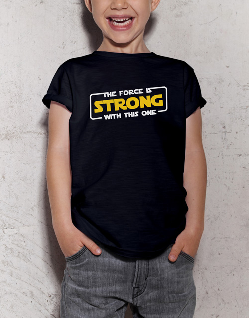 clothing: The Force Kids T Shirt!