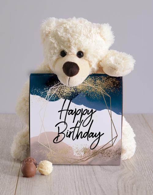 teddy-bears: Glitter And Watercolour Birthday Teddy Hamper!
