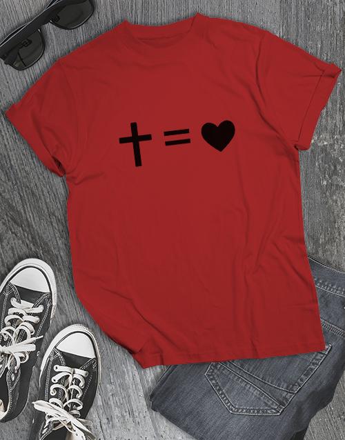 clothing: Cross Equals Love Christian Shirt!