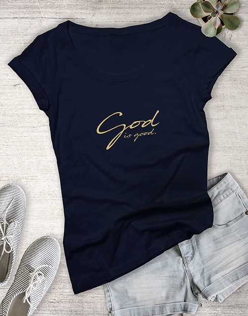 clothing: Ladies God Is Good Christian Shirt!
