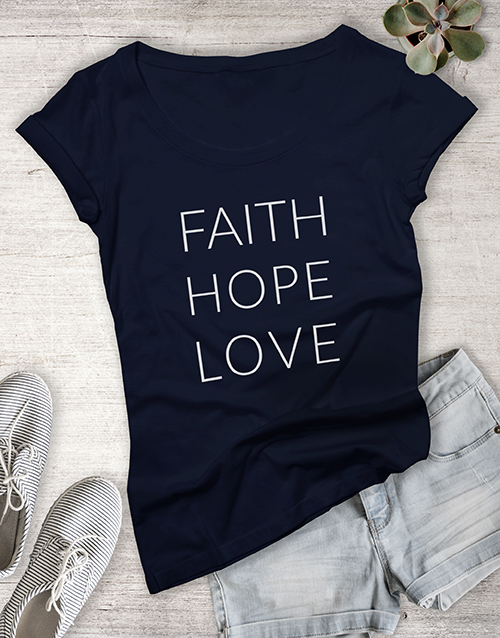 clothing: Ladies Hope And Love Shirt!