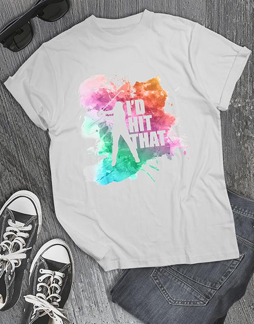 clothing: Colour Explosion Golf Shirt!