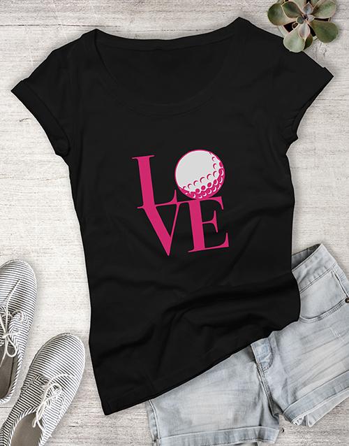 clothing: Love Golf Ladies Shirt!